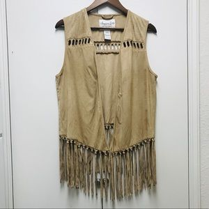 American Rag woman's sleeveless Suede Vest size L